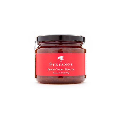 Jar of Stefano's Peach and Vanilla Bean Jam