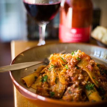Spaghetti bolognese at Stefano's Cafe, Mildura