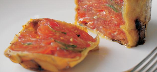 Eggplant and tomato terrine