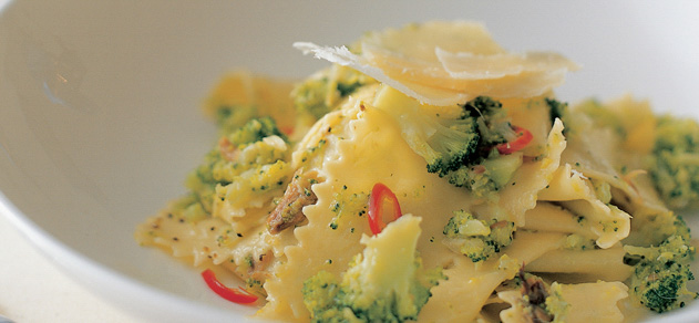 Pappardelle with broccoli