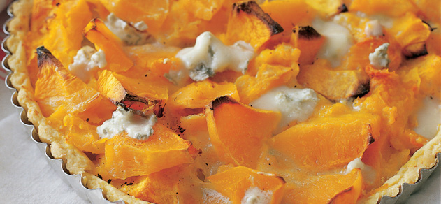 Pumpkin tart with gorgonzola