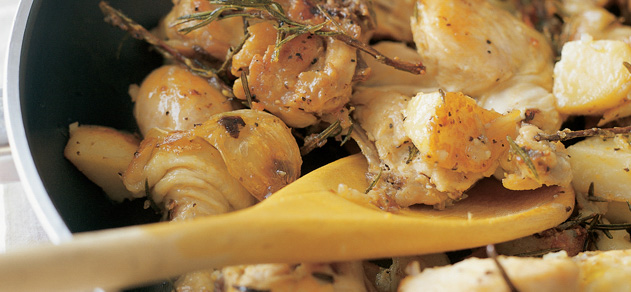 Tender chicken with rosemary