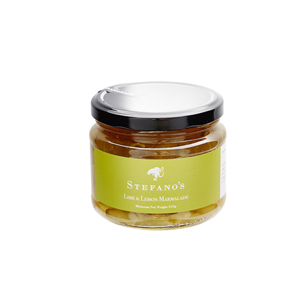 Jar of Stefano's Lime and Lemon Marmalade